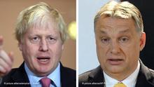 Bildkombi Boris Johnson und Viktor Orban