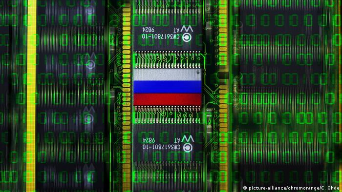 Symbolbild Cyberattacke Russland