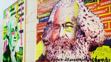 Germany | Street Art in Berlin - Image of Karl Marx by artist Emess (picture-alliance/Wolfram Steinberg)