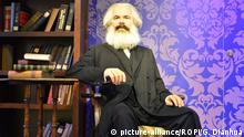 China Waxfigur von Karl Marx bei Madame Tussauds in Peking