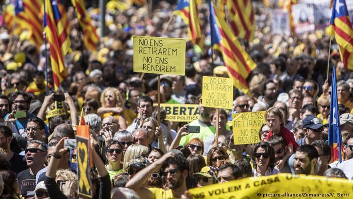Spanien Protest in Barcelona