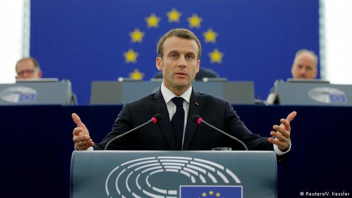 Frankreich Rede Macron vor dem Europaparlament