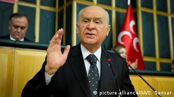 Devlet Bahceli, der Vorsitzende der ultranationalen MHP