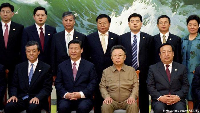 Nordkorea Besuch Xi Jinping und Kim Jong Il in 2008 (Getty Images/AFP/KCNA)