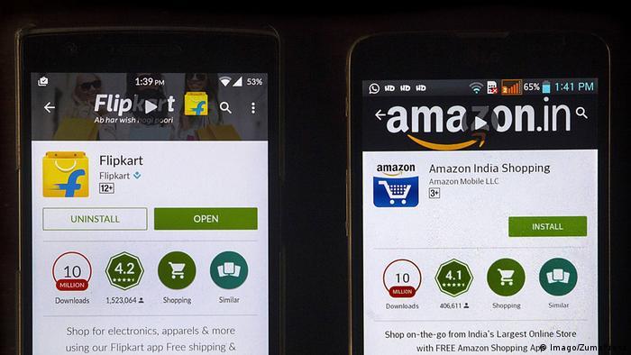 Indien Flipkart & Amazon