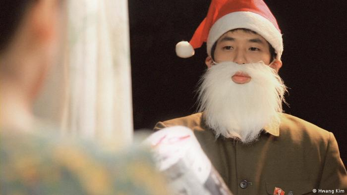Hwang Kim's still features Santa Claus