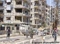 Город Дума в Сирии