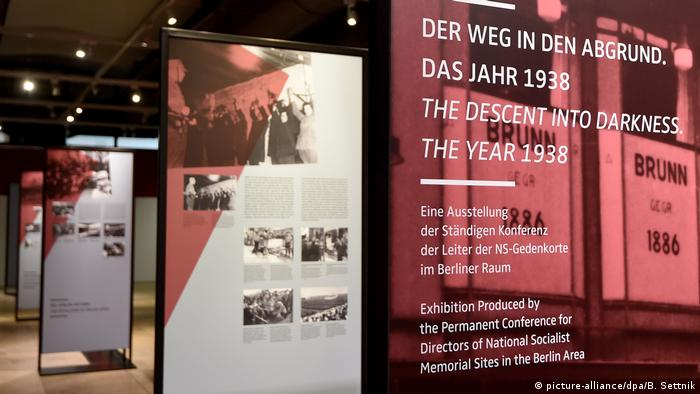 A picture of an exhibition at the Sachsenhausen concentration camp