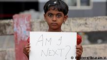 Indien Kochi Protest gegen Vergewaltigung