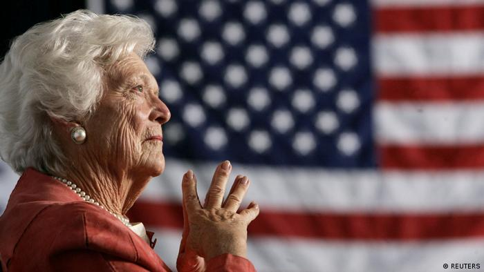 Former US First Lady Barbara Bush (REUTERS)