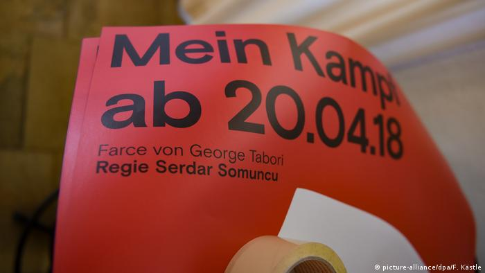 A pamphlet giving details about a play named after Hitler's Mein Kampf