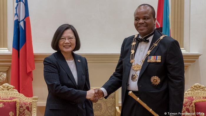 Presidente Tsai Ing-wen e Rei Mswati III