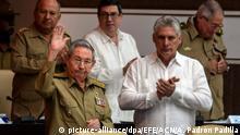 Kuba Raúl Castro und Miguel Díaz-Canel