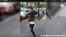 +++ Achtung: Nur zur aktuellen Berichterstattung verwenden! +++ Screenshot Youtube Antisemitischer Angriff in Berlin. Quelle: https://www.youtube.com/watch?time_continue=47&v=6wyo3qsv7U8