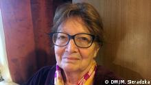 Joanna Sobolewska-Pyz, Ueberlebende vom Warschauer Ghetto und Vorsitzende (seit 2012) im Verein der Holocaust-Kinder in Warschau