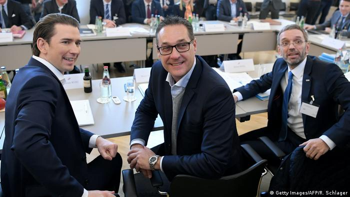 Kurz, Strache and Kickl (Getty Images/AFP/R. Schlager)