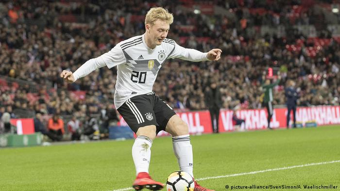 Fussball Freundschaftsspiel - England - Deutschland 0:0 | Julian Brandt (picture-alliance/SvenSimon/A. Waelischmiller)