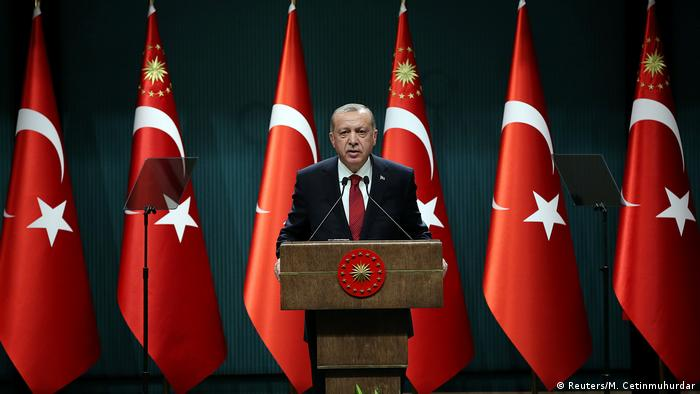 Turkish President Recep Tayyip Erdogan announces the election
