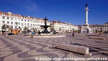 europe, portugal, lisbon, rossio square | Verwendung weltweit, Keine Weitergabe an Wiederverkäufer.