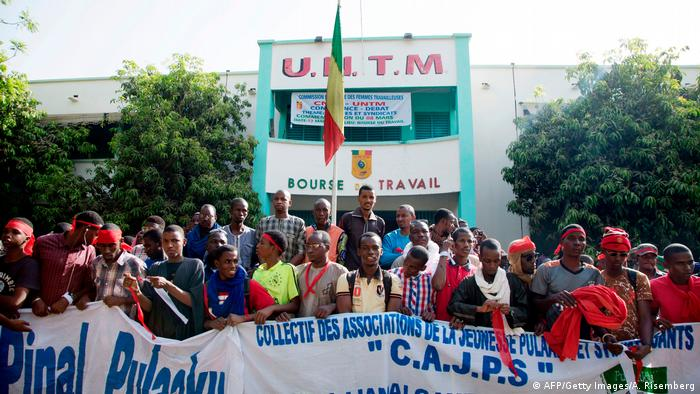 Fulanis demonstrating in Bamako, Mali
