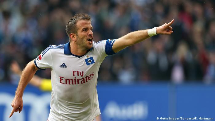 Bildergalerie HSV drohender Abstieg - Bilder historisch bis aktuell | Rafael van der Vaart 2013 (Getty Images/Bongarts/R. Hartmann)