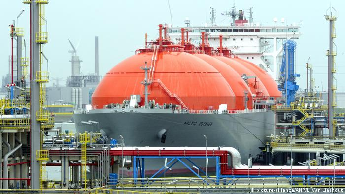 LNG tanker in Rotterdam, Netherlands