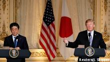 USA Palm Beach Pressekonferenz Shinzo Abe und Donald Trump