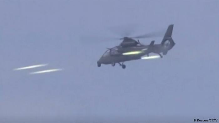 China Militärmanöver (Reuters/CCTV)