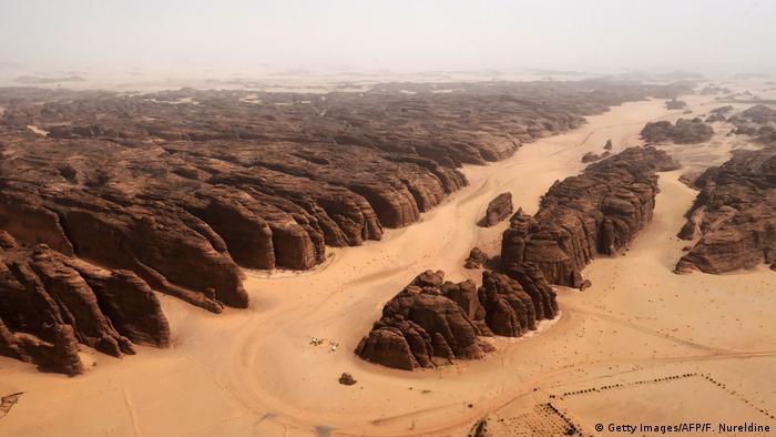 Luftbild der Landschaft bei Al-Ula in Saudi-Arabien (Getty Images/AFP/F. Nureldine)