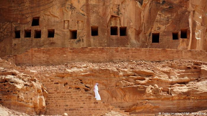 Grabmale bei al-Ula in Saudi-Arabien (Getty Images/AFP/F. Nureldine)