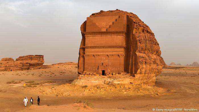 Antikes Grabmal bei Al-Ula in Saudi-Arabien (Getty Images/AFP/F. Nureldine)
