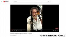 Screenshot Youtube Indien Vermisster Mann singt Hindi-Film-Song (Youtube/MANI MAPAO)