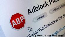 Internet Werbeblocker AdBlock Plus (picture-alliance/dpa/S. Jansen)