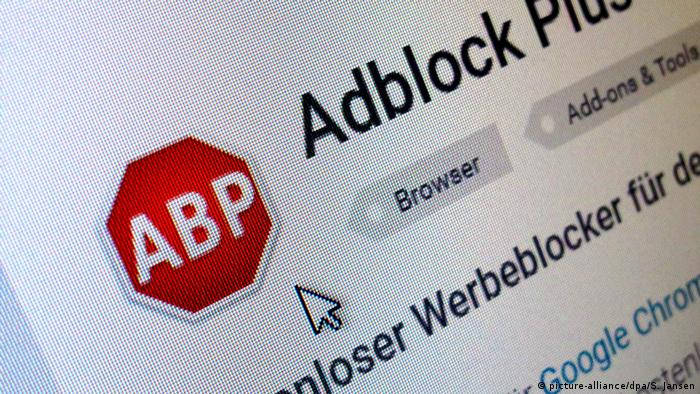 Internet ad blocker AdBlock Plus (picture-alliance/dpa/S. Jansen)