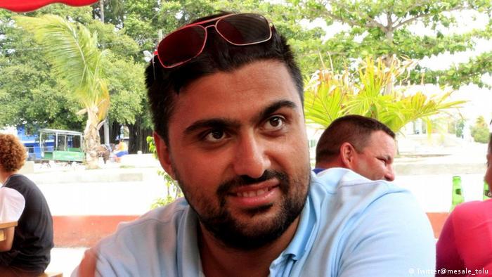 Screenshot Twitter Mesale Tolu zu Verhaftung Adil Demirci