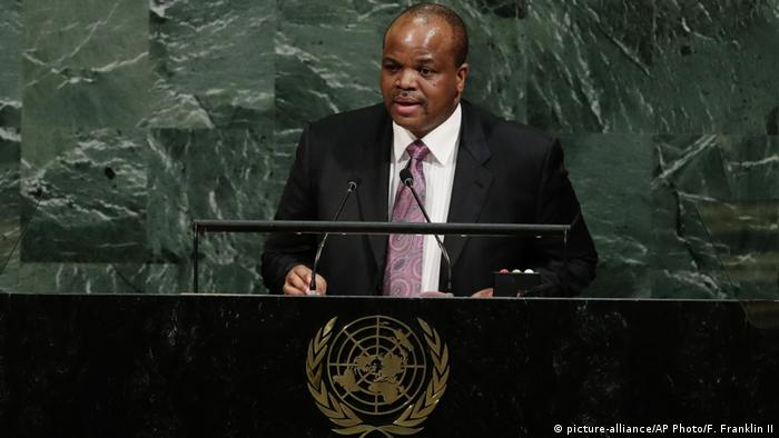 Mswati III. in New York (picture-alliance/AP Photo/F. Franklin II)