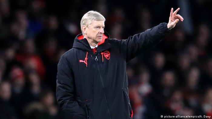 Arsenal v CSKA Moscow - UEFA Europa League - Quarter Final - Fußball Trainer Wenger (picture-alliance/empics/A. Davy)