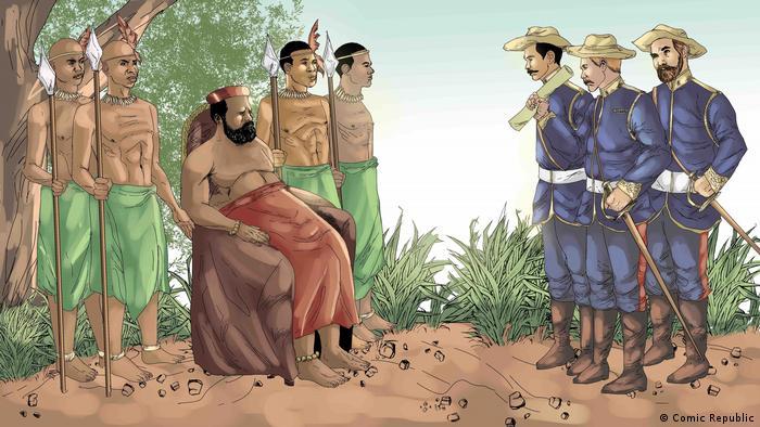 Ngungunyane Untertanen und Kolonialbeamte