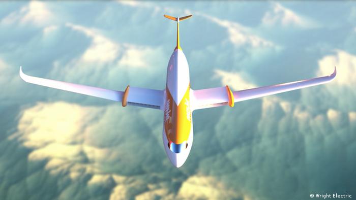 Umweltfreundliches Fliegen mit Elektroflugzeuge, Beispiel Easyjet Wright Electric (Wright Electric )