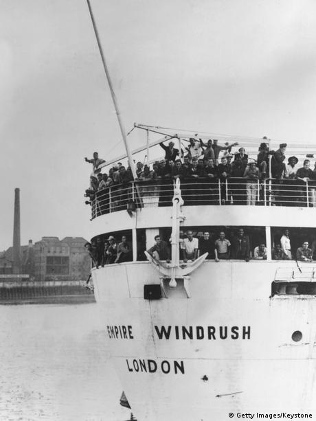 Ankunft der Empire Windrush in Essex