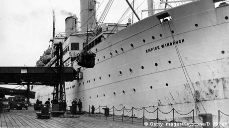 The Empire Windrush ship (Getty Images/Keystone/D. Miller)