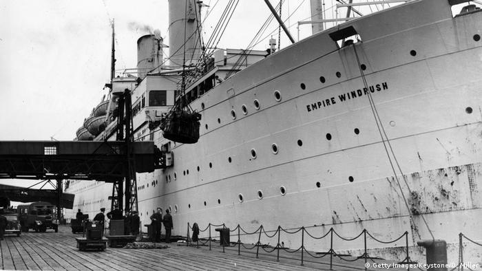 Le navire Empire Windrush a amené des travailleurs des Caraïbes pour reconstruire l'Angleterre après la guerre