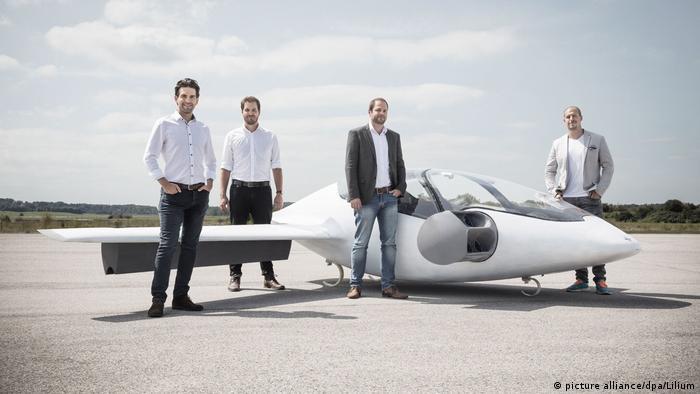Основатели стартапа Lilium Даниэль Виганд, Маттиас Майнер, Себастиан Борн и Патрик Натен (слева направо)