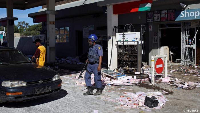 Proteste in Mahikeng, Südafrika