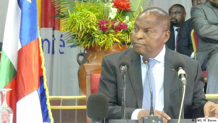 Le président Touadéra (DW/J. M. Bares)