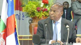 Zentralafrikanische Republik Parteitreffen mit Präsident Touadera