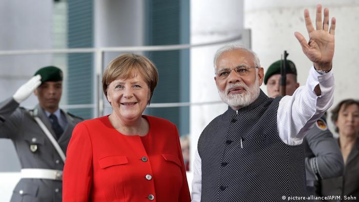 German Chancellor Angela Merkel and Indian Prime Minister Narendra Modi
