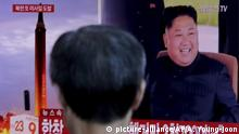 Südkorea TV Nordkorea Raketentest Kim Jong Un (picture-alliance/AP/A. Young-joon)