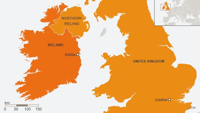 Karte Irland Nordirland ENG