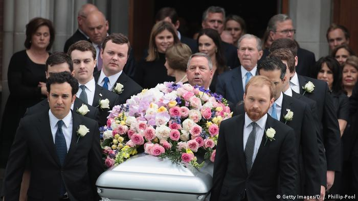 The funeral of former US First Lady Barbara Bush (Getty Images/D. J. Phillip-Pool)